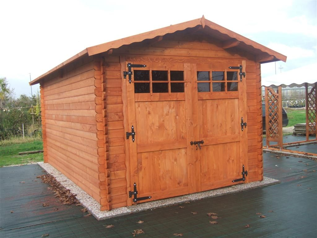 Garage in legno casette tettoie pergole in legno box - Dimensioni garage doppio ...